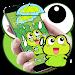 Lovely Frog Big Eye Raindrop Cartoon Theme